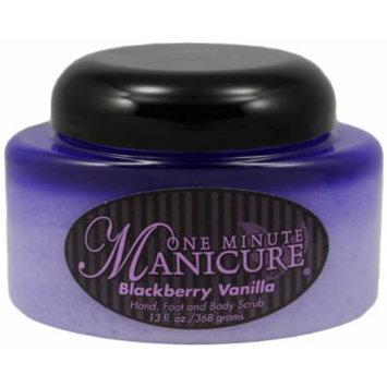 One Minute Manicure Hand, Foot & Body Moisturizing Scrub - 13 Oz Jar (Blackberry Vanilla)