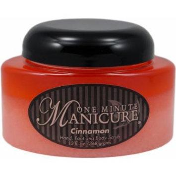 One Minute Manicure Hand, Foot & Body Moisturizing Scrub - 13 Oz Jar (Cinnamon)
