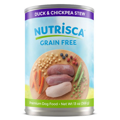 Dogswell Nutrisca Dog Food - Grain Free, Duck and Chickpea Stew size: 13 Oz