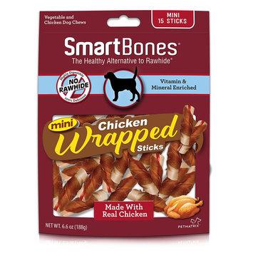 SmartBones Chicken Wrapped Sticks Mini Dog Treat - Chicken size: 15 Count