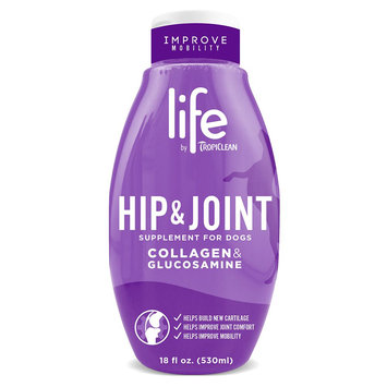 TropiClean Life, Hip and Joint Collagen and Glucosamine Dog Supplement size: 18 Fl Oz
