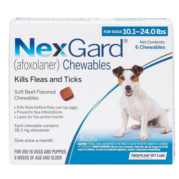 NexGard for Dogs - 6 Pack size: 10.1-24 lbs