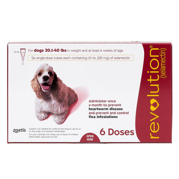 Revolution for Dogs 21-40 lbs size: 6 Count