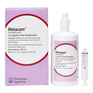 Metacam Anti-Inflammatory Oral Suspension For Dogs size: 1.5mg/mL 180 mL