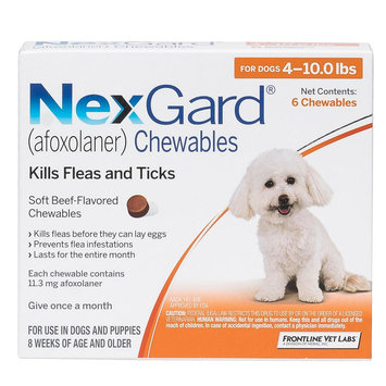 NexGard for Dogs - 6 Pack size: 4-10 lbs