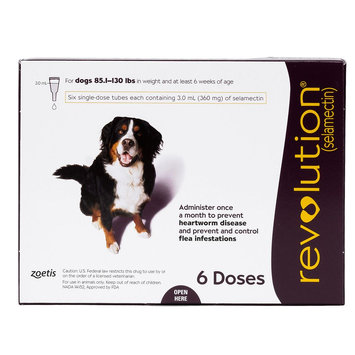 Revolution for Dogs 86-130 lbs size: 6 Count