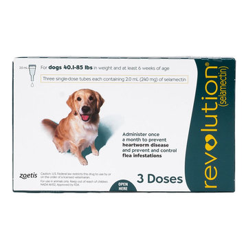 Revolution for Dogs 41-85 lbs size: 3 Count