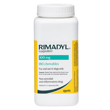 Rimadyl Pain and Arthritis Chewable Tablet size: 100 mg