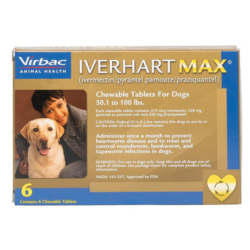 Iverhart Max Chewable Tablets for Dogs - 6 Pack size: 50.1-100 lbs