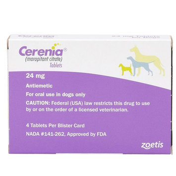 Cerenia Tablet for Dogs - 4 Pack size: 24 mg, Pfizer
