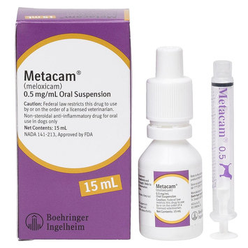 Metacam Anti-Inflammatory Oral Suspension For Dogs size: 0.5mg/mL 15 mL