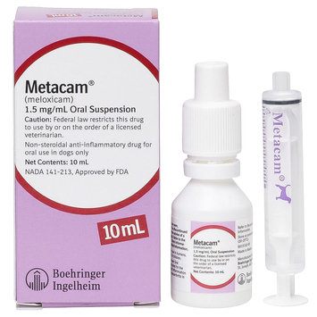 Metacam Anti-Inflammatory Oral Suspension For Dogs size: 1.5mg/mL 10 mL