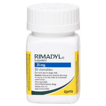 Rimadyl Pain and Arthritis Chewable Tablet size: 25 mg
