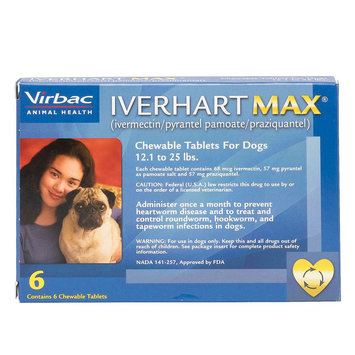 Iverhart Max Chewable Tablets for Dogs - 6 Pack size: 12.1-25 lbs