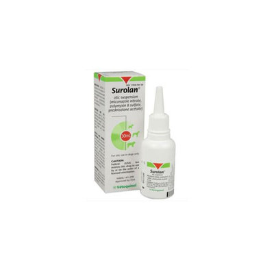 Surolan Otic Suspension size: 30 mL, Vetoquinol