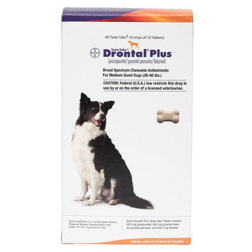 Drontal Plus for Dogs Tablet size: 68 mg