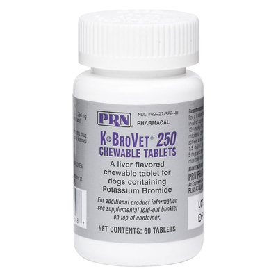 K-BroVet Chewable Tablets - 60 Count size: 250 mg, PRN Pharmacal