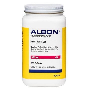 Albon Tablet size: 500 mg