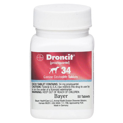 Droncit Dewormer for Dogs size: 34 mg