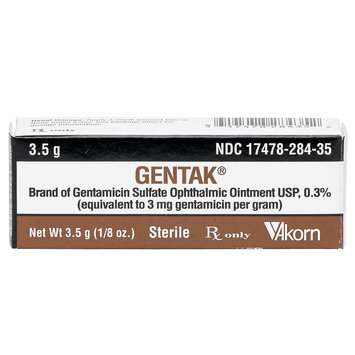 Gentamicin Opthalmic Ointment size: 3.5 gm