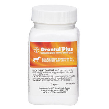 Drontal Plus for Dogs Chewable Tablet size: 68 mg