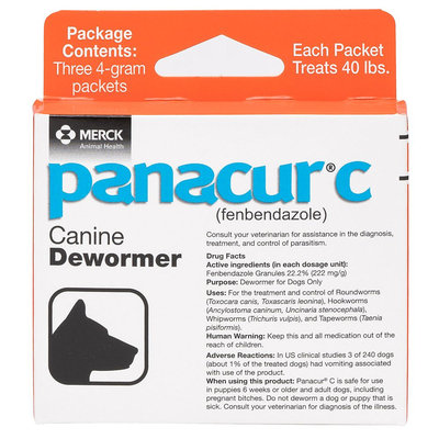 Panacur C Canine Dewormer Granules - 3 Pack size: 4 g