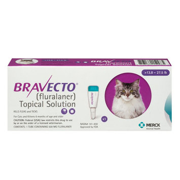 Bravecto Topical Solution for Cats size: 13.8-27.5 lbs