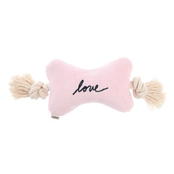 ED Ellen DeGeneres Love Bone Rope Dog Toy - Plush, Squeaker
