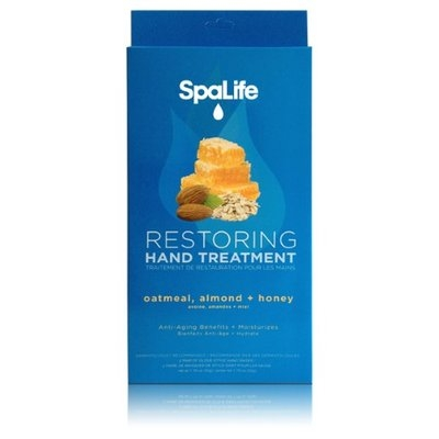 Spalife Restoring Hand Treatment Gloves With Oatmeal Almond Honey 4 pack