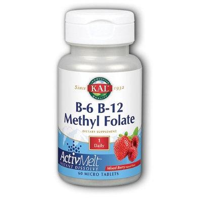 B-6 B-12 Methyl Folate ActivMelt (Mixed Berry) Kal 60 Lozenge