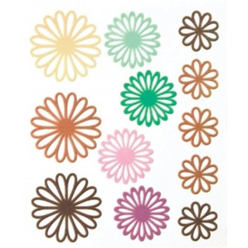 Alvin BHS10608 Gel Outline Daisy Stickers, Brown