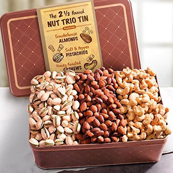 Two and a Half Pound Assorted Nuts Gift Tin