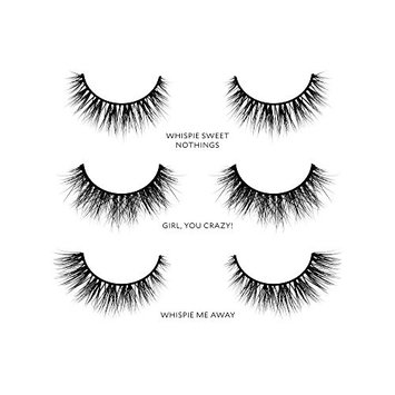 Velour Lashes - Whispie Collection (3 Pairs of Mink Lashes) - Fake/False Natural Eyelashes - Long Lasting 25+ Applications - Natural & Lightweight - Ethically Sourced - Easy Application
