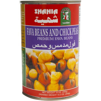 Tut's International Export & Import Co Shahia Fava Beans and Chick Peas, 15 oz