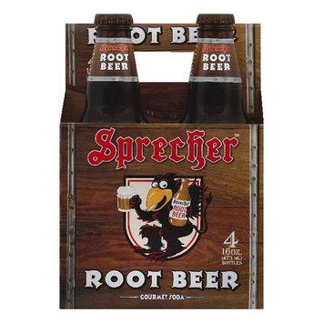 Sprecher Root Beer Gourmet Soda, 4 ea (Pack of 6)