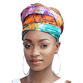 Queen Tyra Multi Color Tie Died African Headwrap