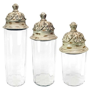 S/3 TADI GLASS CANISTERS