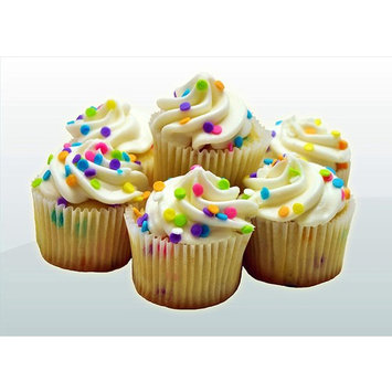 Fresh Baked Mini Cupcakes- 2 Packages (White Confetti)