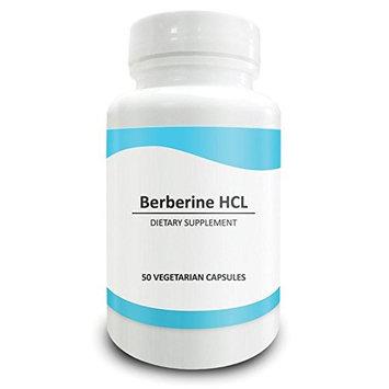 Pure Science Berberine 500mg - Berberine Supplements Regulate Cholesterol Levels, Boost Immunity, Promote Metabolism and Brain Function - 50 Berberine HCL Vegetarian Capsules