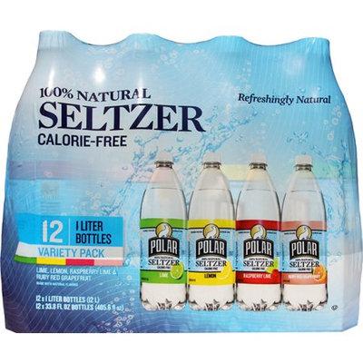 Polar Seltzer Water, Variety Pack, 33.8 Fl Oz, 12 Count