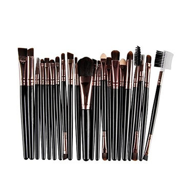 Fineser 22pcs Makeup Brush Set Cosmetics Foundation Blending Blush Eyeliner Concealer Face Powder Brush Makeup Brush Kit Beauty Cosmetic Tools