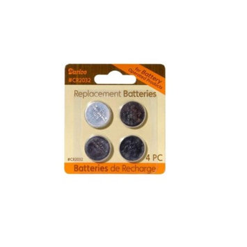 Pack of 4 Lithium Button Cell CR2032 Replacement Batteries - 3 Volts