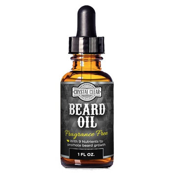 CCS Beard Oil Growth for Men, Leave-In Conditioner Softener for Dry and Sensitive Facial Hair, Unscented 1 oz