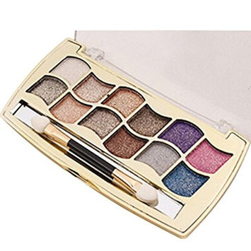 12 Color Eye Shadow ,YOYORI Women Cosmetic Matte Eyeshadow Cream Makeup Palette Shimmer Sparkly Palette Long Lasting Powder Cosmetic with Brush