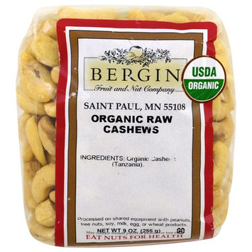 Bergin Fruit and Nut Company, Organic Raw Cashews, 9 oz (255 g)