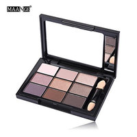 MAANGE Matte Eyeshadow Cream Makeup Palette Set 9 Color+Brush Set