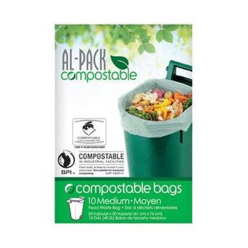 Al-Pack 13 gal 10PK Kitchen Trash Bag (P-RGBC2430COMP)