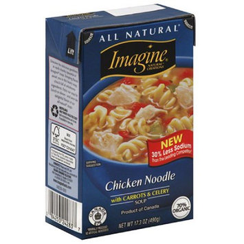 Imagine All Natural Chicken Noodle with Carrots & Celery Soup, 17.3 oz, (Pack of 12)