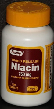 Rugby Niacin 750 mg, Timed Release, 100 Tablets