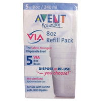CLOSEOUT! Avent VIA 8 Ounce Refill 5 Pack